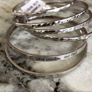 Free People Scripted Bangles Set